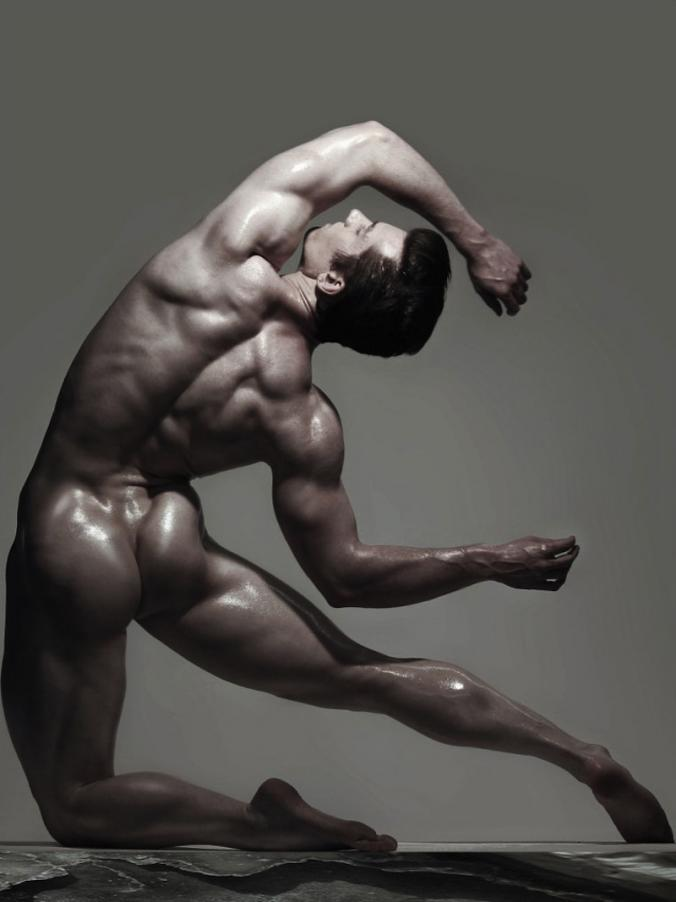 Naked man art