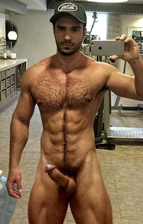 Handsome Face Beard Furry Chest Ripped Abs And Hot Cock And Balls