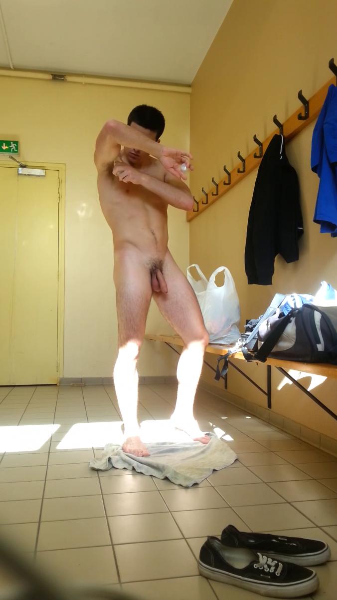 Male locker room voyeur