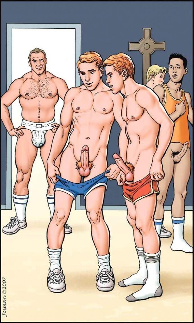 Locker room naked girls