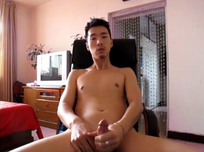 Guys cum in asian