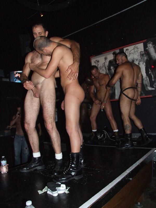 Gay strip club