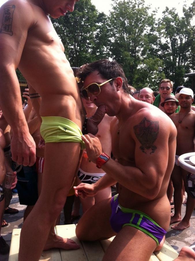 Blowjob in public gay
